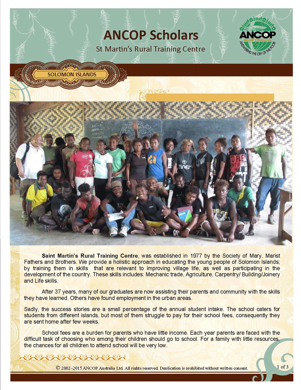 Solomon Island page1
