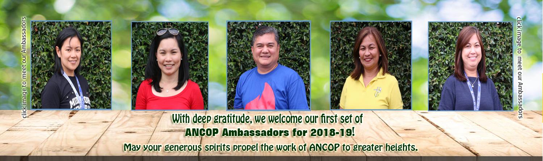 2018 Ancop Ambassador-set